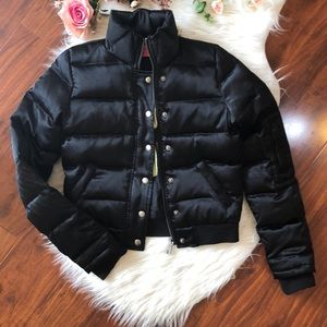 JUICY COUTURE BLACK PUFFER JACKET - SMALL